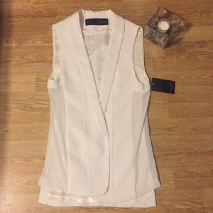 NWOT Dirty white vest from ZARA